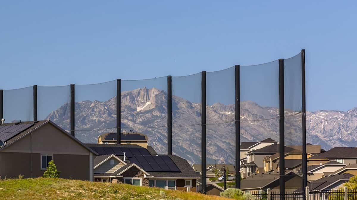 anti-golf ball screens